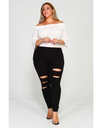 PLUS HIGHRISE SLIT PANTS