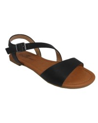 BLK LADIES BKSTRAP SANDALS