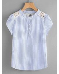 STRIPE BUTTON DOWN TOPS IFT5024