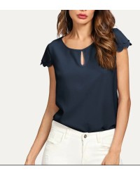 SCALLOP SLV TOPS IFT5869