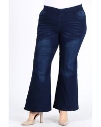 PLUS HIGH FLARE JEANS