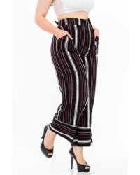 PLUS STRIPE PANTS