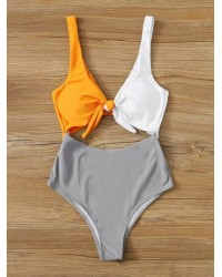 KNOT FRNT 1PC SWIMSUITS