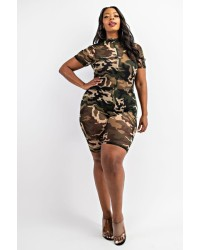 PLUS SIZE S/S ROMPERS