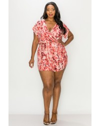 PLUS SIZE VNECK ROMPERS
