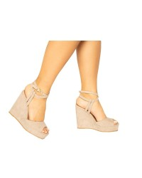 PEEP TOE STRAPY WEDGES
