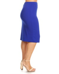 PLUS SKIRTS ROYAL BLUE
