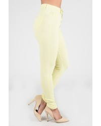 421 LADIES JEANS YELLOW