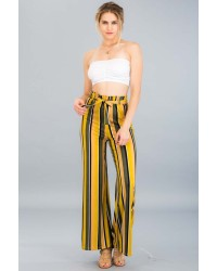 KNIT BELTED PANTS