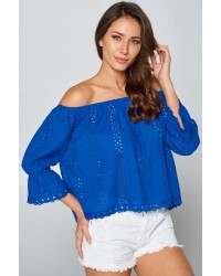 EYELET LACE TOPS