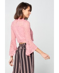 LACE BELL SLV TOPS
