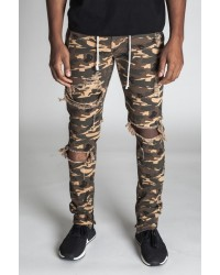 CAMO ANKLE ZIP JEANS
